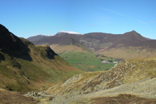 Maiden Moor With Sail, Scar Crags and Causey Pike across the valley