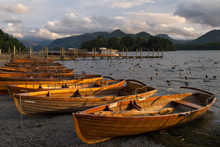 The rowing boats on Derwentwater