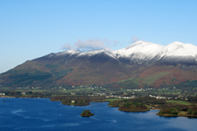 Skiddaw with snow-capped peaks